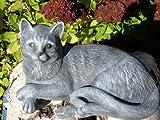 Garden ornaments Cat, Cast stone, Slate gray