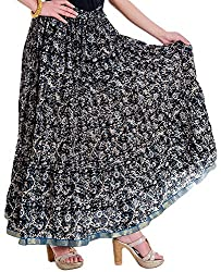 Ceil Women's Cotton Skirt (Multi-Coloured)