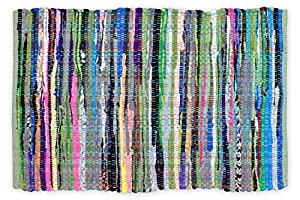 "DII 100% Cotton Rag Rug for Entry Way, Kitchen Bathroom 20"" x 31.5"" Multi Colored"