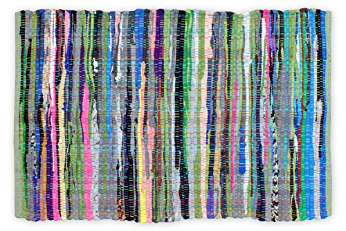 Dii Home Essentials Rag Rug For Kitchen, Bathroom, Entry Way, Laundry Room And Bedroom, 4 X 6-Feet, Multi Colored front-375181