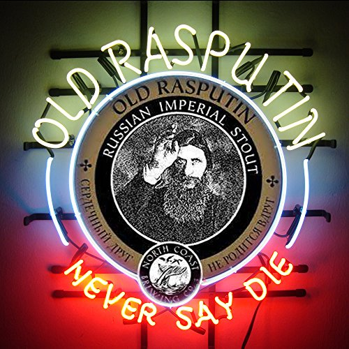 Desung.us Old Rasputin Never Say Die Handcrafted Design Decorate Real Glass Tube Beer Bar Pub Neon Light Sign 24''x20''P69 (Old Rasputin compare prices)
