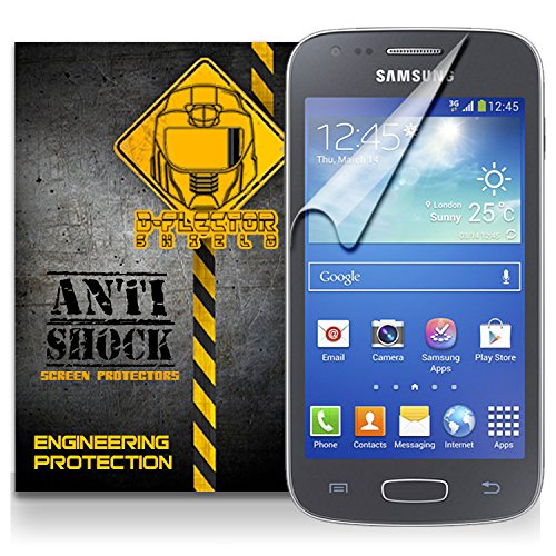 D-Flectorshield Samsung Galaxy Ace 3 Anti-Shock/Military Grade/ Tpu /Premium Screen Protector / Self Healing / Oleophobic Material / Ez Install / Ultra High Definition / Scratch Proof / Bubble Free Install / Precise Laser Cuts front-601325