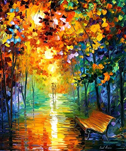 Decorative Room (Unframe And Unstretch) 100% Hand-Painted Palette Knife Oil Painting On Canvas,Misty Park 2,30 X 36 Inch (75Cm X 90Cm)