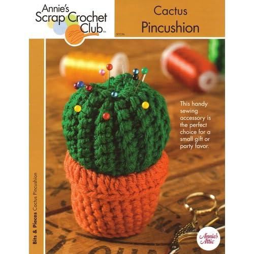 Crochet Cactus Pincushion Free Pattern : Cactus Pincushion One Crochet Pattern Annies Scrap Crochet ...