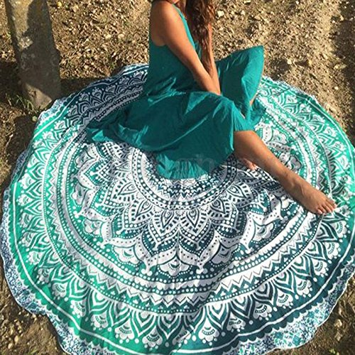 Popular Round tapestry Yoga Mat Indian Mandala Throw Hippy Tablecover Beach Towel