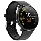 HowLoo Smart Watch of Outdoor Exercise Fitness Wristband Wear Heart Rate Blood Pressure Monitoring for Old People (Black) (Color: Black)