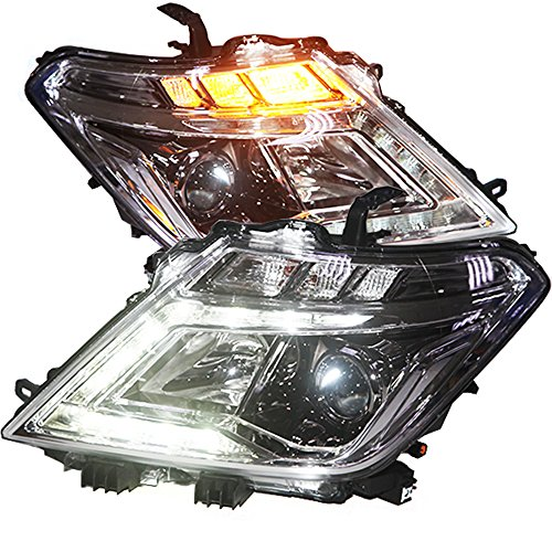 Generic LED Head Light Angel Eyes 2012 to 2014 Year for Nissan Patrol Infiniti QX56 Chrome Housing (Nissan Patrol 2014 compare prices)