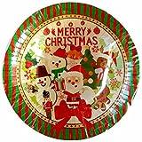 クリスマス パーティー 紙皿 ペーパー ボウル 深皿 サンタ (5枚入り)