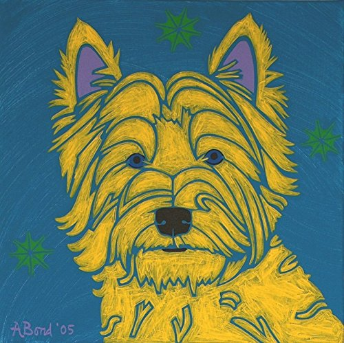Westie Art Print - Colorful Pop Art Dogs MATTED Print by Angela Bond