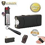 Pepper Spray Keychain Small Stun Gun Self Defense Kit (1) Rechargeable Mini Taser Flashlight (1) Police Pepper Spray 1/2oz Tear Gas. Best Stun Gun For Women or Men. Color (Black) (Color: Black, Tamaño: Small)