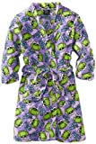 Purple Frog Fleece Bathrobe for Big Girls'