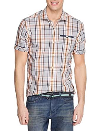 S.Oliver - Chemise - Homme - Beige (02N6) - FR : XXL [Taille Fabricant : XL]