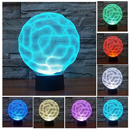 LOTOS® 3D Optical Illusion peristaltica distorto dello spazio di visualizzazione Glow Home Decor USB alimentato LED colorato graduale Lampada da scrivania