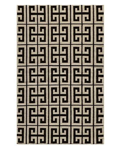 Rug Republic Hand Woven Rug, Black, 8' x 10'
