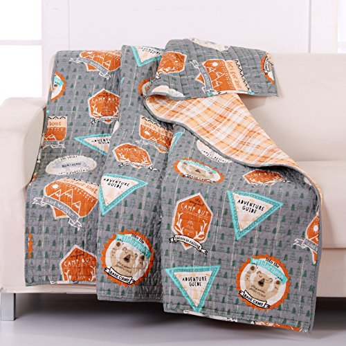Greenland Home Camp Out Quilted Throw (Quilted Throw Polyester compare prices)