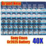 Big Bargain 40 CR2025 LITHIUM BUTTON CELL COIN BATTERIES FOR SONY