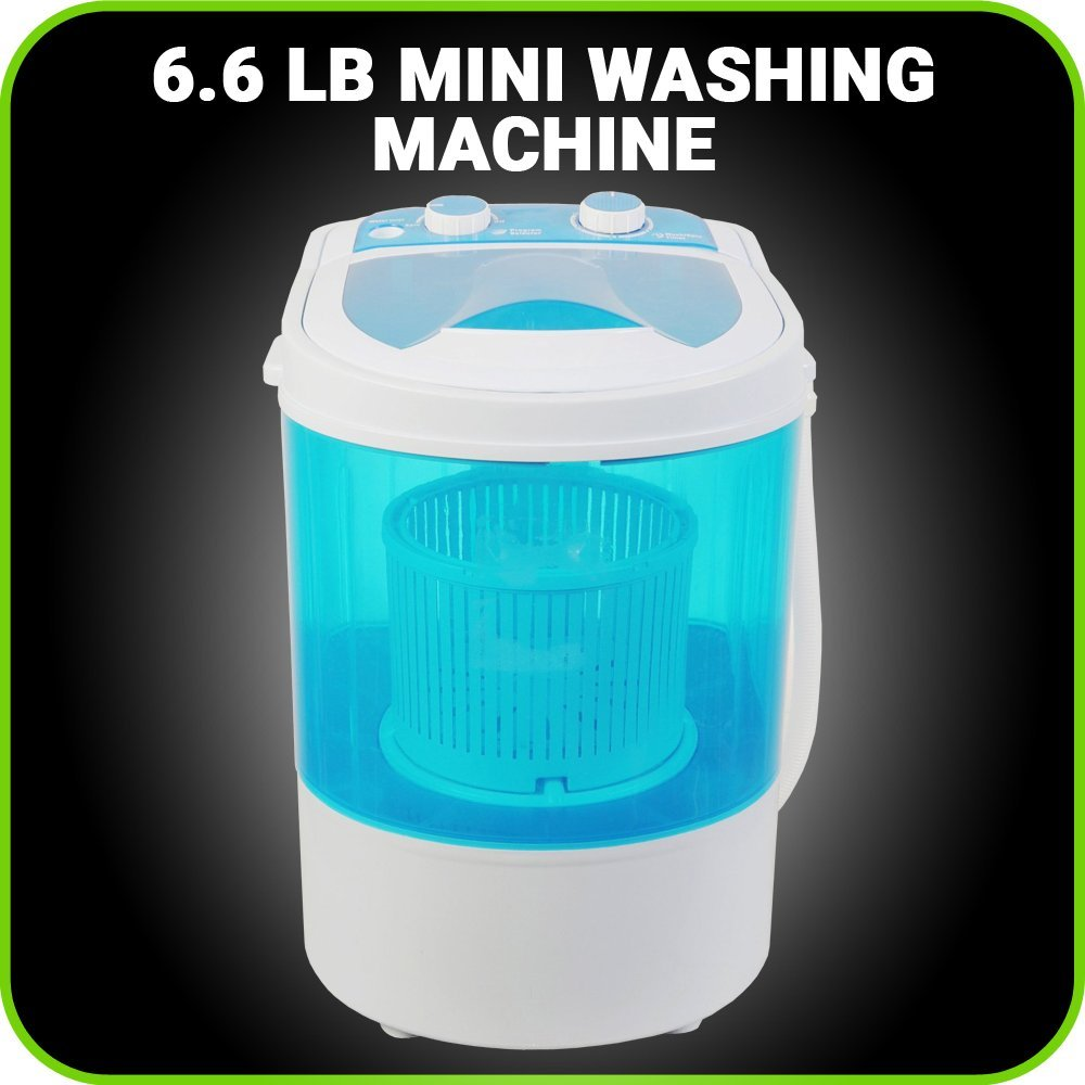 Small Mini Portable Compact Washing Machine 6.6 LB Capacity Laundry Washer and Spin Dry from MANATEE