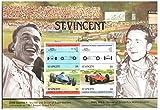 セントビンセントのレーストラック - - 4ミントスタンプ - コレクターのためのクラシックカーの切手は、マウントされたことがないし、ヒンジ付きことはありません