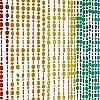 HAB & GUT (DV022) Türvorhang COLOR bunt Regenbogen, 90 x 200, 49 Stränge