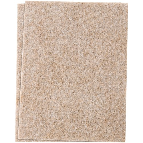 Waxman 4720095N Self-Stick Heavy Duty Felt Blanket Pads, 4-1/2-Inch By 6-Inch, Oatmeal front-349924