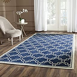 Safavieh Amherst Collection AMT412P Navy and Ivory Indoor/ Outdoor Area Rug, 4 feet by 6 feet (4\' x 6\')