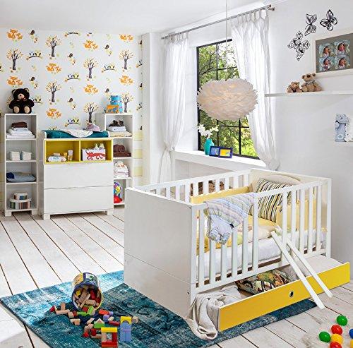 Babyzimmer Set »RISONU166« alpinweiß, gelb günstig online kaufen