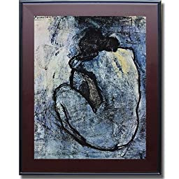 Blue Nude by Picasso Premium Mahogany Framed Canvas (Ready-to-Hang)