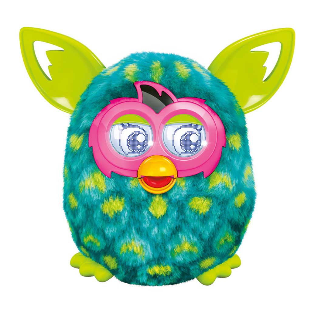 Furby boom peacock interactive toy plush green blue for Porte bebe toys r us