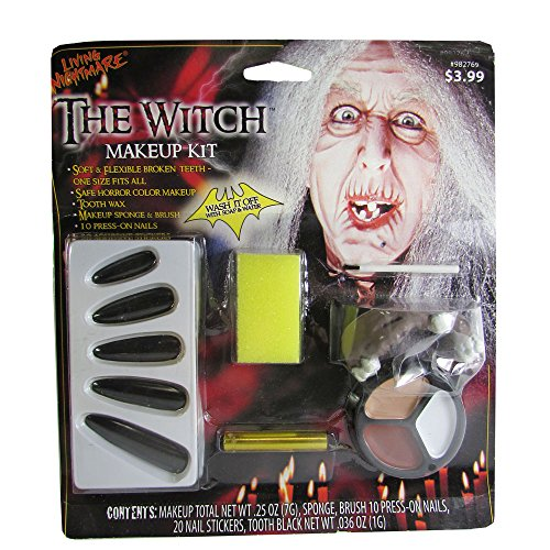 Fun World 10 Pack The Witch Makeup Kit Halloween Accessory