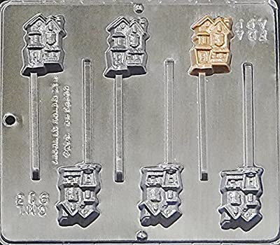 Haunted House Lollipop Chocolate Candy Mold Halloween 913