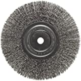 Weiler Trulock Narrow Face Wire Wheel Brush, Round Hole, Stainless Steel 302, Crimped Wire