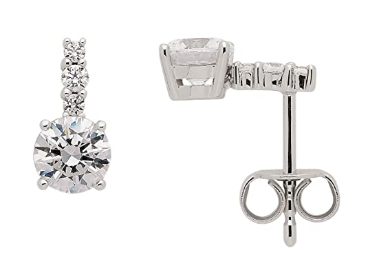 Earrings with Zirconia from 333White Gold