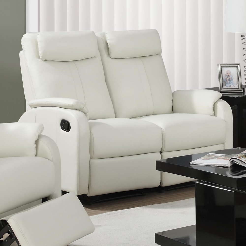 Monarch Specialties Abiline Reclining Leather Loveseat