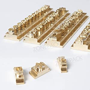 ZONEPACK Copper Brass Stamping Flexible Letters Numbers Alphabets Symbols Characters Molds CNC Engraving Molds for Hot Foil Stamping Machine ¡ (Emoji) (Tamaño: EMOJI)