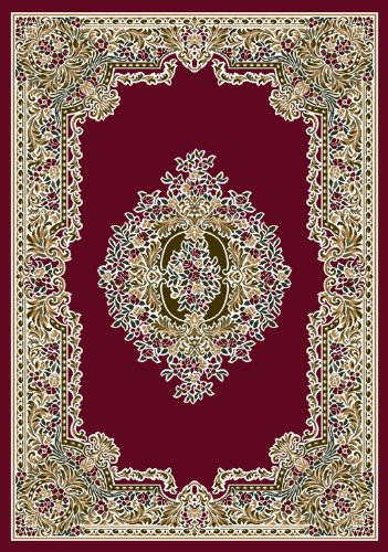 "Aubusson Rug - Brick (3'10""x5'4"" Rectangle)"