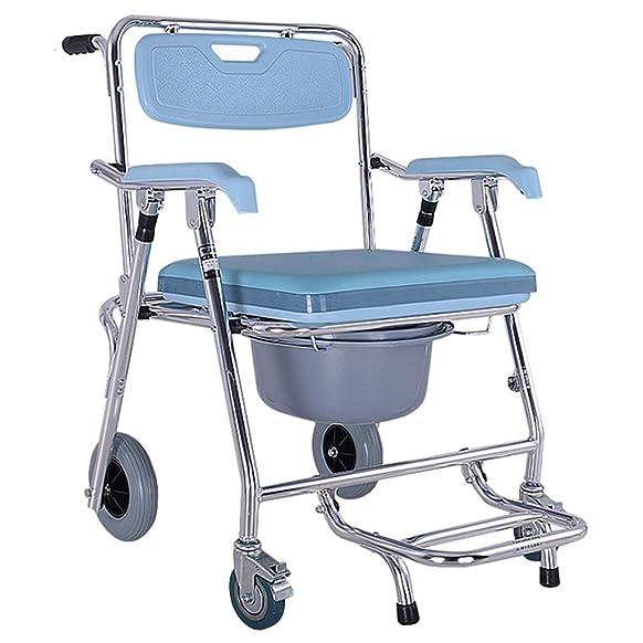 LI JING SHOP - Sedia per la riabilitazione Sedia da toilette Lega di alluminio per sedia da bagno può spostarsi da bagno Sedia da bagno Multifunzione Pieghevole Prendi il bagno ( Colore : #-003 )
