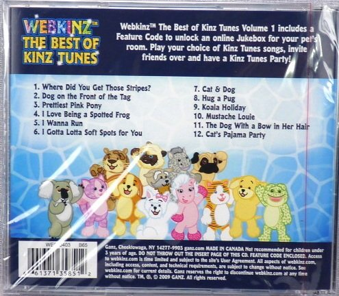 Webkinz the Best of Kinz Tunes Cd Feature Code Inside