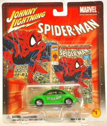 Johnny Lightning Marvel Series Spider-Man 1998 VW Beetle - 1