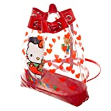 Hello Kitty Clear Bag Hello Kitty Drawstring Bag Hello Kitty Accessory (Color: Multicolored, Tamaño: OSFM)