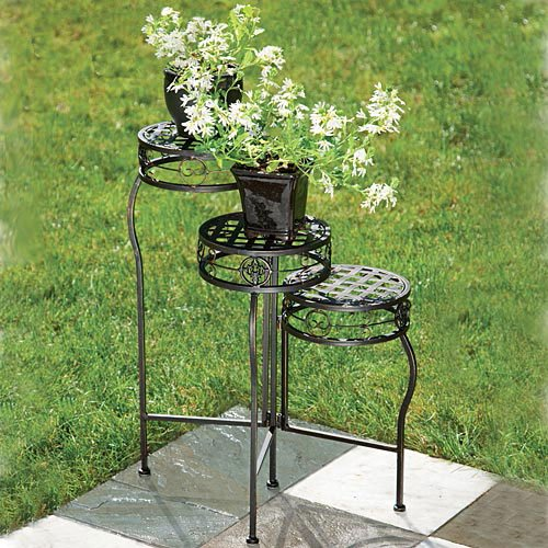 Three Tier Plant Stand Wonderful Gift For Any Gardener Flower