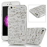 iPhone 6 /6S Funda - Lanveni Chic Elegante Carcasa Suave TPU Gel Silicona ultra Slim para iPhone 6 /6S 4.7 pulgadas Transparente Case - Patrón Fórmula Función Diseño (Blanco)