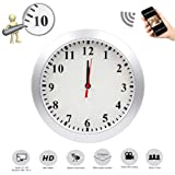 Mopora WiFi Indoor Hidden Camera Wall Clock, 1080P Remote View, and Motion Detection Monitor Your Home and Office (Tamaño: MO2)