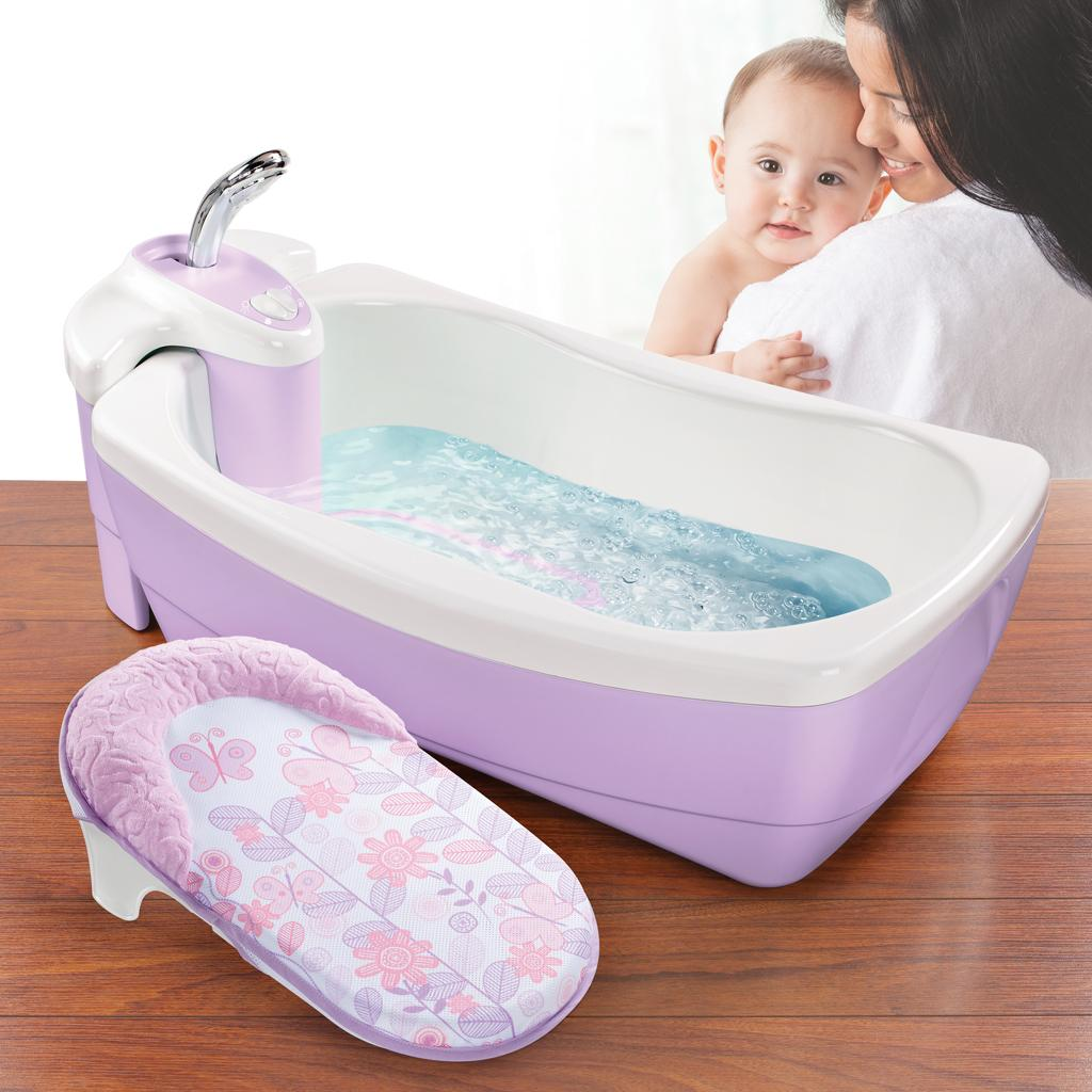 summer infant lil 39 luxuries whirlpool bubbling spa and shower tub violet. Black Bedroom Furniture Sets. Home Design Ideas