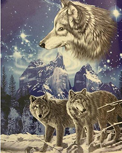 Animal Throws - Wolf Throw