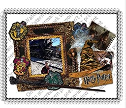 1/2 Sheet Harry Potter Movie Magic Add Your Picture Photo Frame Edible Image Cake Topper