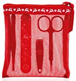 The Body Shop Mini Manicure Set: Nail Scissors, Nail Clippers, Nail File and Buffer, Tweezers, Mesh Bag