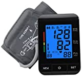 Upper Arm Blood Pressure Monitor, FDA UDI Approved, XREXS Automatic Digital BP Monitor with Backlit, Adjustable Cuff Electronic Sphygmomanometer,90 Groups Memory,2 Users (Color: Type a Bp Monitor)