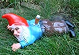 Gartenzwerg erstochen aus bruchfestem PVC Zwerg Made in Germany Figur