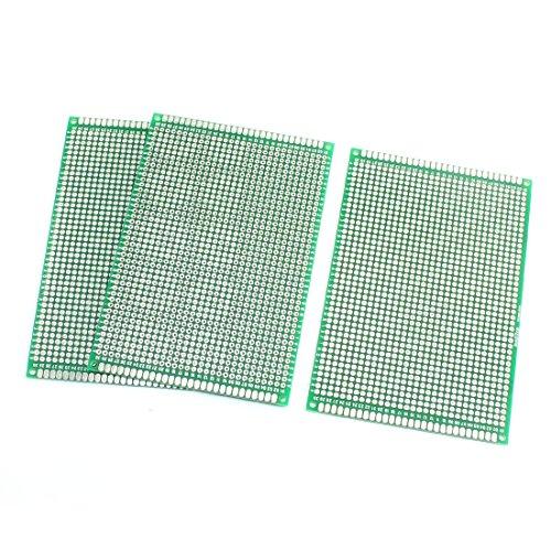 ENSEMBLE Double FACE Protoboard circuits imprimés prototypes 8 cm x 12 cm