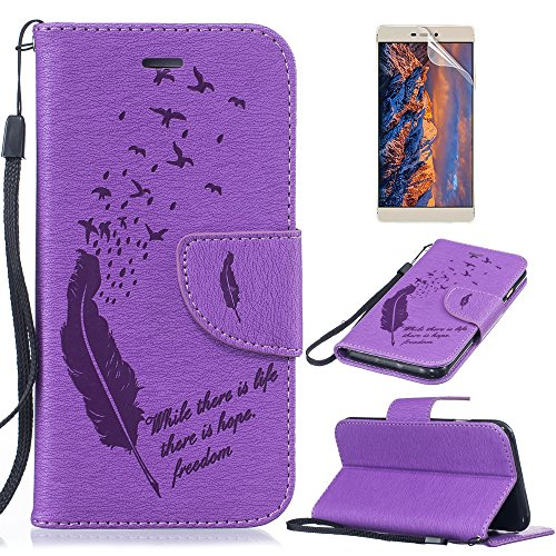 huawei-y3-ii-wallet-flip-case-sunroyal-colorful-drawing-art-painted-feather-pattern-pu-leather-flip-
